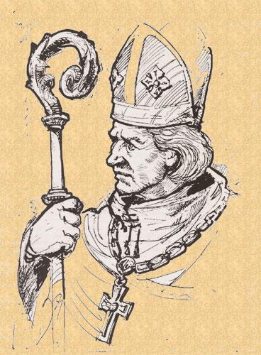 Svētais Meinards, San Meinardo (1134/36-1196) primo Vescovo della Livonia, oggi Lettonia (Ripristino del Culto) Riga (Lettonia), 8 settembre 1993 attēls: vatican.va
